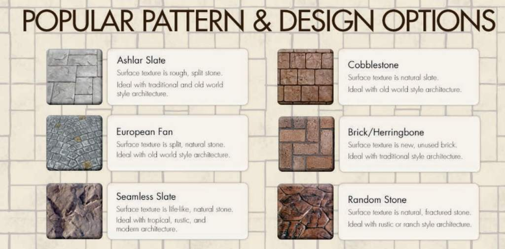 Edmonton Stamped Concrete Design Options